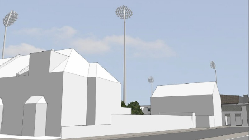 cricket floodlights